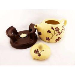 Czajnik ceramiczny do zaparzania ziół z podgrzewaczem - poj. 1000 ml