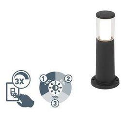 Nowoczesna lampa zewnętrzna czarna 40cm gu10 3-stopniowe ściemnianie - carlo marki Qazqa