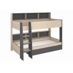 Łóżko piętrowe tymeo – z miejscem do przechowywania – 2 × 90 × 200 cm – kolor dębowy i antracytowy marki Vente-unique
