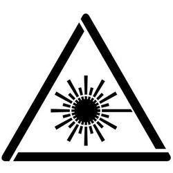 Szabloneria Szablon do malowania znak ostrzeżenie przed wiązką laserową gw004 - 17x20 cm