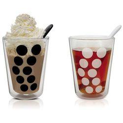 Zestaw 2 szklanek 350 ml z podwójnymi ściankami i łyżeczkami Dot Zak! Designs, 1500-R690