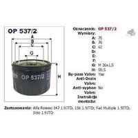 Filtr oleju op 537/2 wyprodukowany przez Filtron