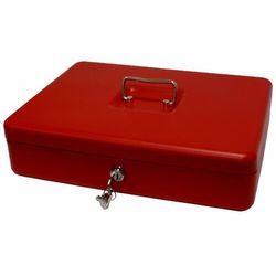 Kasetka na pieniądze 2153/5as_red, bardzo duża, czerwona marki Metalplus