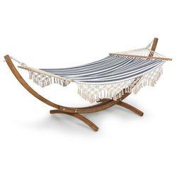 Blumfeldt Bali Swing, hamak, modrzew, 160 kg maks., 320 g/m², wzór w paski (4060656226076)