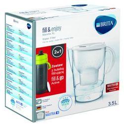 3,5l marella xl dzbanek biały z wkładem maxtra + butelka filtrująca fill&go active marki Brita