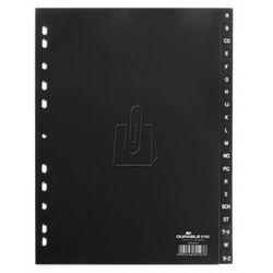 Przekładki do segregatora A-Z Durable A4 20 stron czarne 6168-01 (4005546601076)
