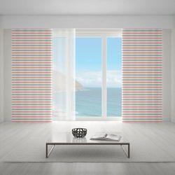 Zasłona okienna na wymiar - RETRO HORIZONTAL BLUSH