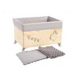 Pojemnik skrzynia na skarby, zabawki - Kropeczki z kategorii Skrzynie