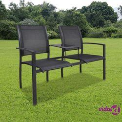 Vidaxl metalowe krzesła ogrodowe z mini stolikiem (8718475869375)