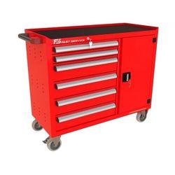 Wózek warsztatowy TRUCK z 6 szufladami i drzwiami PT-214-40