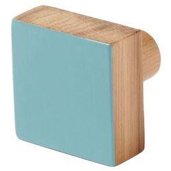 Wieszaczek drewniany GoodHome Nantua niebieski (3663602675457)
