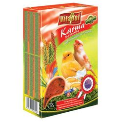 Vitapol Karma wybarwiająca czerwona dla kanarka z jajkiem i beta-karotenem 350g