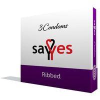 Ribbed - Prezerwatywy prążkowane z środkiem nawilżającym