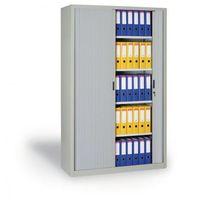 Szafa metalowa z żaluzjowymi drzwiami, 1990x1200x450 mm, jasnoszary