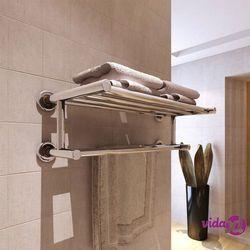 Vidaxl wieszak na ręczniki z 6 rurkami, stal nierdzewna