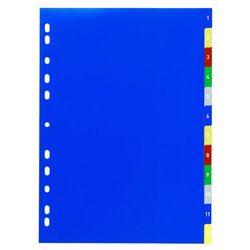 Durable Przekładki 1-12 do segregatora a4 5-kolorowe 6750-27