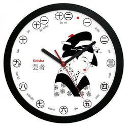 Atrix Zegar ścienny solid japonia gejsza