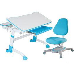 VOLARE BLUE + PRIMAVERA I BLUE - Regulowane biurko z krzesełkiem - FunDesk - Szkolna Promocja!