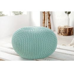 space:: puf knitted ball - miętowy?50cm - miętowy marki Interior