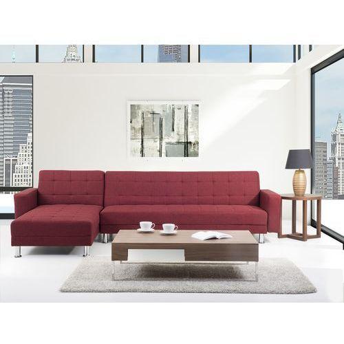 Sofa czerwona - Sofa narozna - Sofa rozkladana - Sofa tapicerowana - ABERDEEN (sofa)
