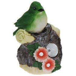 Progarden Lampa solarna 11 cm ptaszek zielony - zielony