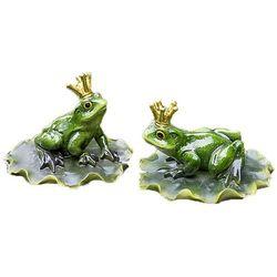 Żaba na liściu do oczka wodnego na szczęście oczko wodne ogród