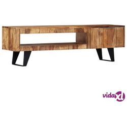 vidaXL Szafka pod TV, 140x30x40 cm, lite drewno sheesham (8719883559421)