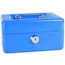 Kasetka na pieniądze , mała, 152x80x115mm, niebieska marki Donau