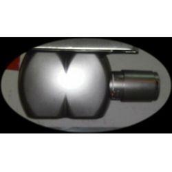Zawór zespolony z osłoną Inox sat. 50mm + głowica UDS927 (zawór i głowica ogrzewania)