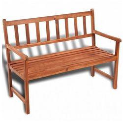 Drewniana ławka ogrodowa dean - brązowa marki Elior