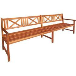 vidaXL Ławka ogrodowa z drewna akacjowego 240 x 56 90 cm, brązowa (8718475501985)