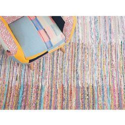 Beliani Dywan wielokolorowy bawełniany 140x200 cm mersin