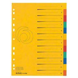 Herlitz Przekładki a4 kartonowe 12-cz xxl colorspan (4008110414416)