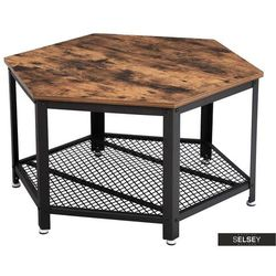 Selsey stolik kawowy ramizu w kształcie sześciokąta (5903025356266)