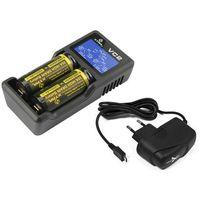 ładowarka do akumulatorów cylindrycznych Li-ion 18650 Xtar VC2 +zasilacz USB - produkt z kategorii- Ładowar