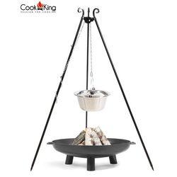 Cook king Kociołek nierdzewny na trójnogu 10l + palenisko bali 70cm