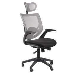 Fotel biurowy gabinetowy KB-8904/SZARY - krzesło obrotowe, KB-8904/SZARY