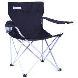 Krzesło rozkładane SPOKEY Angler Czarno-biały