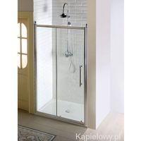 ANTIQUE drzwi prysznicowe do wnęki 140x190 cm szkło czyste ze wzorem, kolor chrom GQ4514 (8590913830662)