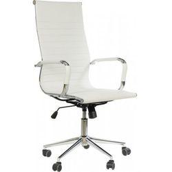 Fotel obrotowy ne-632h biały - biurowy, gabinetowy - krzesło obrotowe marki Stema - ne