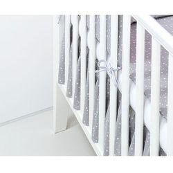 falbanka do łóżeczka mini gwiazdki białe na szarym marki Mamo-tato