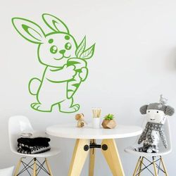 Naklejka na ścianę dla dzieci zając 2408
