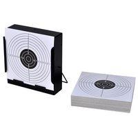 vidaXL Tarcza strzelecka 14cm + tarcze papierowe x 100