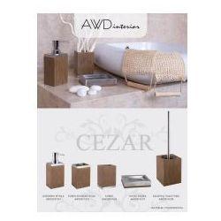 cezar kubek na szczoteczki drewno metal awd02191275 marki Awd interior