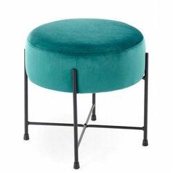 Pufa tapicerowana okrągła Ringo - zielona