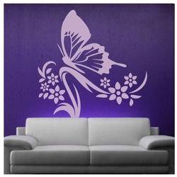 Szablon malarski motyl w kwiatach 1249 marki Wally - piękno dekoracji