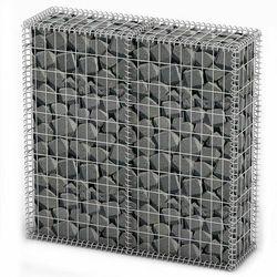 Vidaxl kosz gabionowy z drutu stalowego, pokrywką, 100 x 30 cm