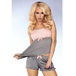 Piżamka na ramiączkach w kropeczki z kodardą 102, morela-szary z kategorii Pozostała bielizna erotyczna