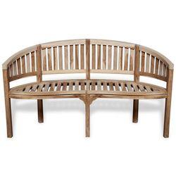 Vidaxl ławka w kształcie banana, 151 cm, drewno tekowe (8718475976066)