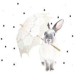Naklejka ścienna Dekornik - Królik Harry w deszczu (90x115)